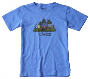 KIDS CAMPING FOXES T-SHIRT FJALLRAVEN - KOSZULKA