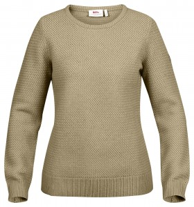OVIK STRUCTURE SWEATER W FJALLRAVEN - SWETER WEŁNIANY
