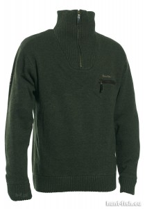 KENDAL KNIT w. ZIP-NECK DEERHUNTER - SWETER