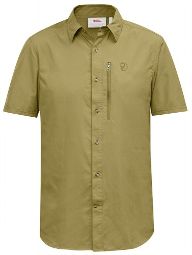 Fjallraven Abisko Hike Shirt SS kolor: 602 - Meadow Green.