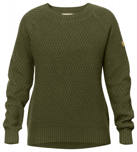 Fjallraven Sormland Roundneck Sweater W, kolor 633 Dark Olive