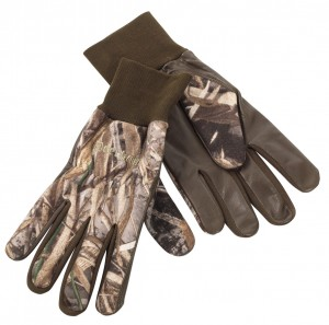 FLEECE GLOVES W. LEATHER DEERHUNTER - RĘKAWICE MYŚLIWSKIE