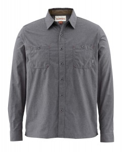 SIMMS BLACKS FORD FLANNEL SOLID SHIRT UPF 50 - KOSZULA FLANELOWA