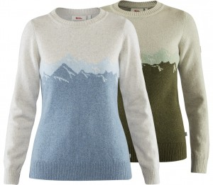FJALLRAVEN GREENLAND RE-WOOL VIEW SWEATER W - SWETER WEŁNIANY