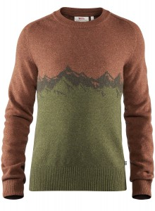 FJALLRAVEN GREENLAND RE-WOOL VIEW SWEATER - SWETER WEŁNIANY