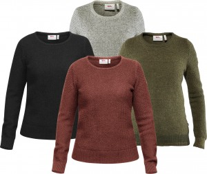 FJALLRAVEN OVIK STRUCTURE SWEATER W - SWETER WEŁNIANY