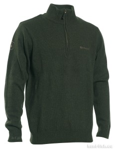 HASTINGS KNIT w. ZIP-NECK DEERHUNTER - SWETER