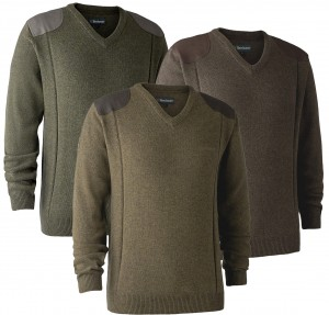 Deerhunter Sheffield Knit w. v-neck - sweter wełniany