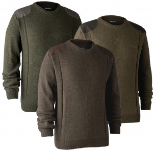 Deerhunter Sheffield Knit w. o-neck - sweter wełniany