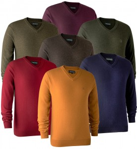 Deerhunter Kingston Knit with v-neck - sweter wełniany