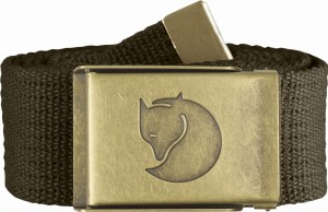 CANVAS BRASS BELT 4 CM. FJALLRAVEN - PASEK PŁÓCIENNY