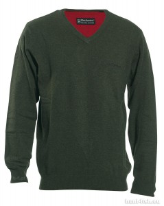BRIGHTON KNIT w. V-NECK DEERHUNTER - SWETER