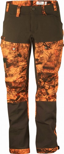 Fjallraven Lappland Hybrid Camo Trousers W 90193 211 Orange Camo/Dark Olive 4